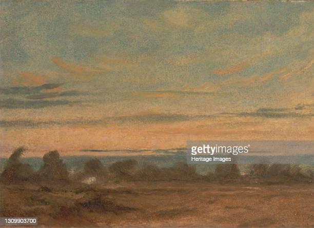 Summer - Evening Landscape, ca. 1825. Artist John Constable. .