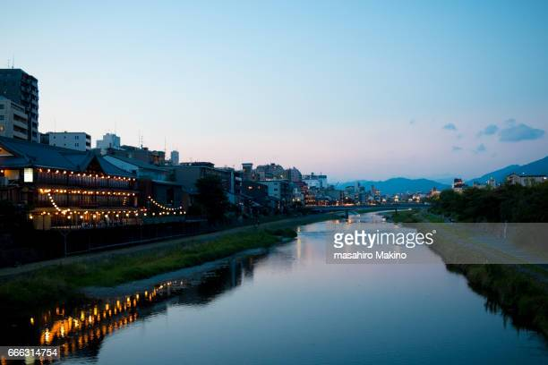 Summer Evening View of Kamo River, Kyoto City