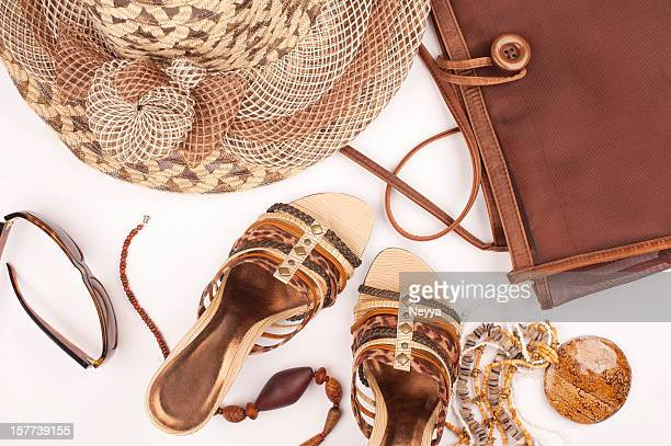 summer fashion - beige purse stock pictures, royalty-free photos & images