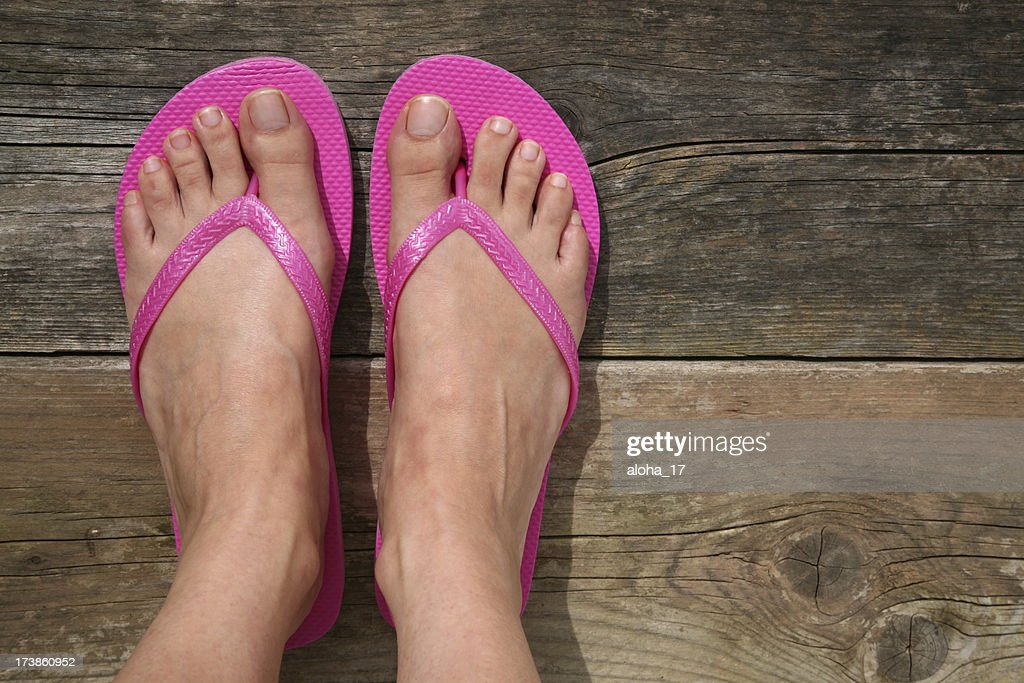 Summer feet : Stock Photo