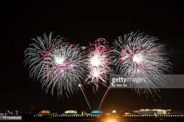 summer fireworks - ken ilio stock photos and pictures