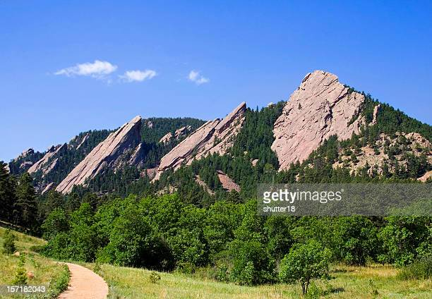 summer flatirons - foothills stock pictures, royalty-free photos & images