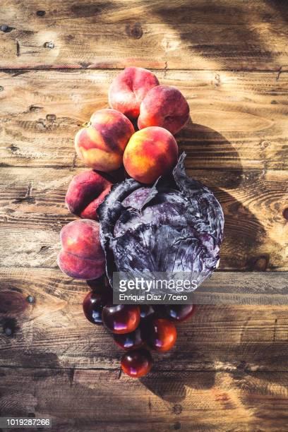 Summer Fruit and Vegetable Still Life