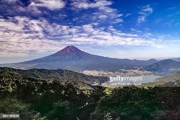 summer fuji - fuji hakone izu national park stock photos and pictures