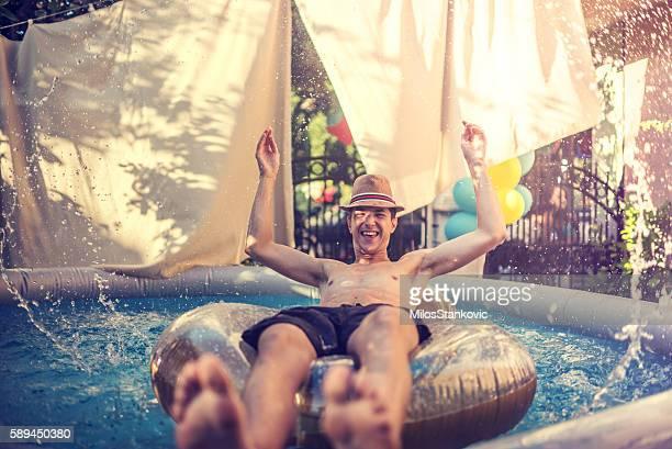 Summer fun in a pool