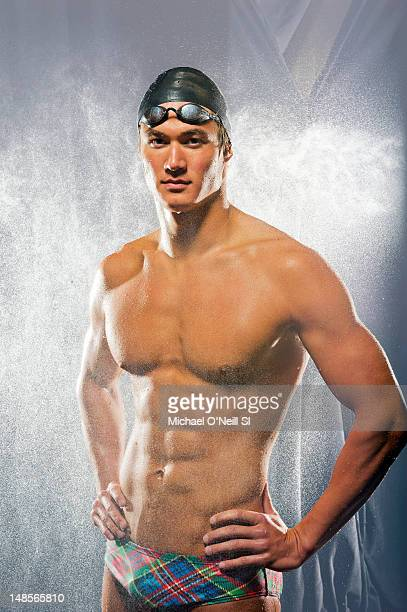 Team USA swimmer Nathan Adrian poses for the Sports Illustrated Summer 2012 Olympic portfolio on May 13 2012 at Hilton Anatole in Dallas Texas...
