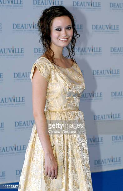 Summer Glau during 31st American Film Festival of Deauville Serenity Photocall at CID in Deauville France