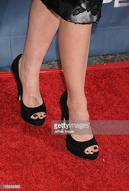 Summer Glau's shoes at NBC's 'The Cape' premiere party at The Music Box @ Fonda on January 4 2011 in Hollywood California