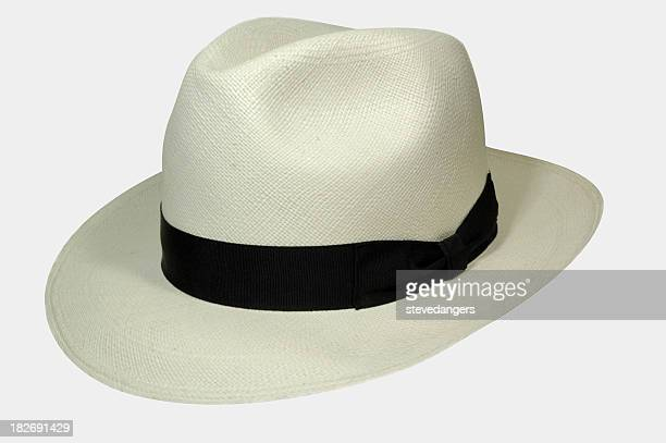 Summer hat with a brim and black band