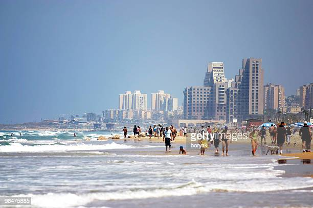 summer heat - haifa stock pictures, royalty-free photos & images