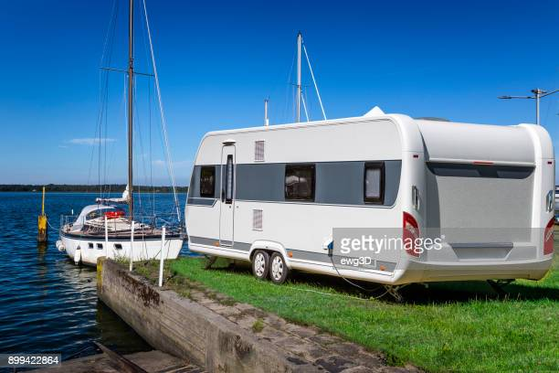 Summer holiday at the Szczecin Lagoon, Germany