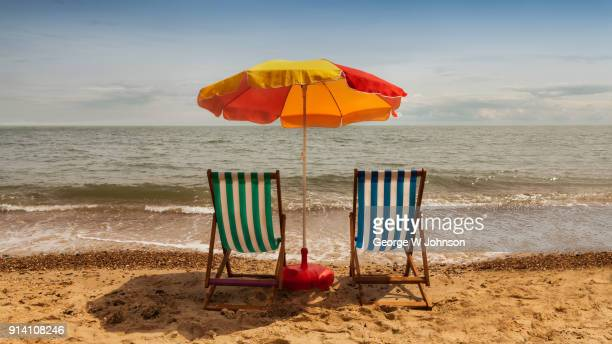 summer holiday - deck chair stock pictures, royalty-free photos & images