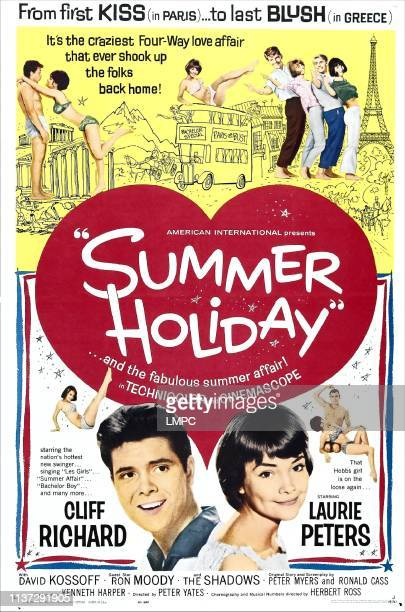 Summer Holiday poster US poster bottom from left Cliff Richard Lauri Peters 1963