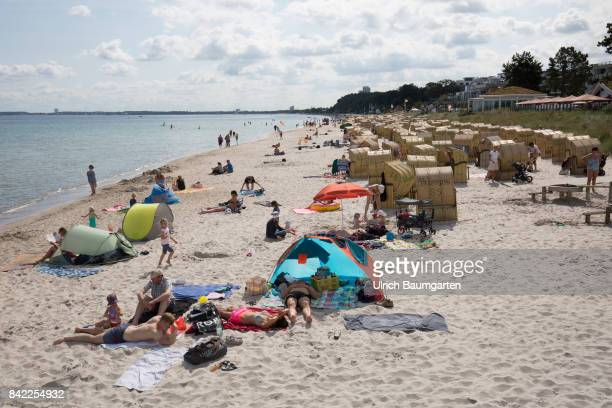 Summer holidays and beach holidays in Scharbeutz at the Baltic Sea - beach chairs.