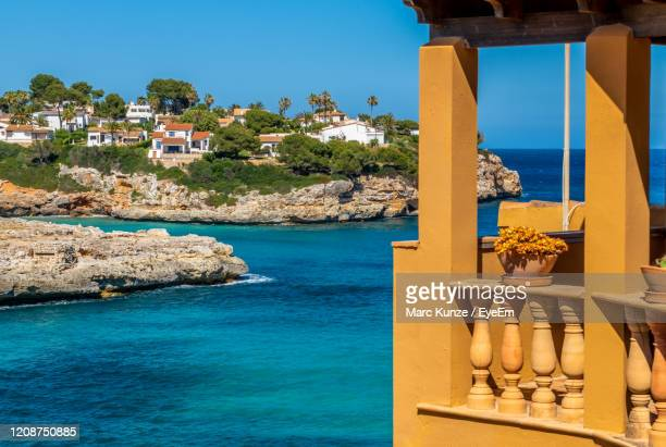 summer holidays at the sea mallorca spain with blue sky - islas baleares fotografías e imágenes de stock