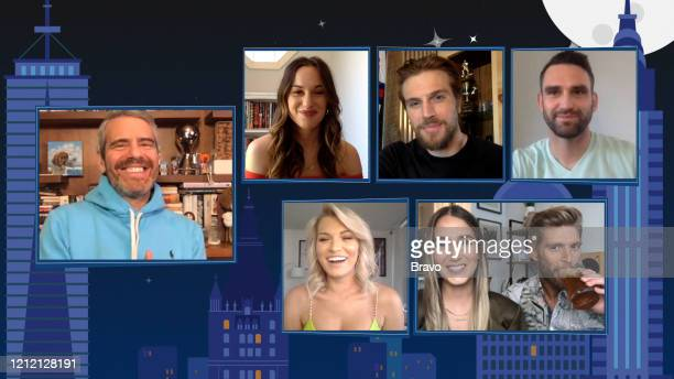 COHEN @ HOME Summer House Reunion Episode 17081 Pictured in this screen grab Andy Cohen Hannah Berner Lindsay Hubbard Luke Gulbranson Amanda Batula...
