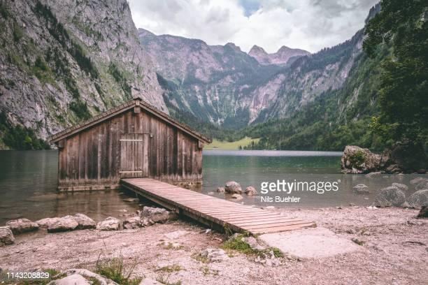 summer in bavaria berchtesgaden obersee koenigssee - alps - berchtesgaden alps stock photos and pictures