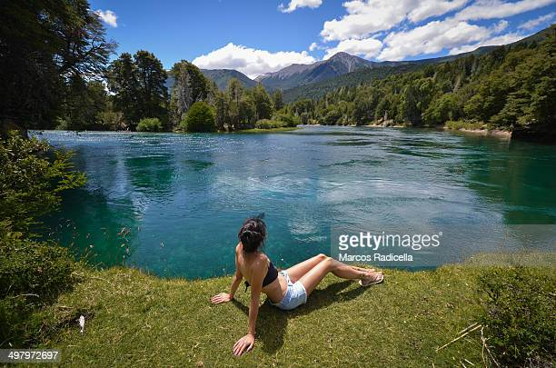 summer in patagonia - radicella stock photos and pictures