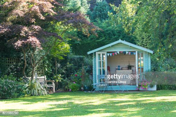 Summer in the garden with the summer house
