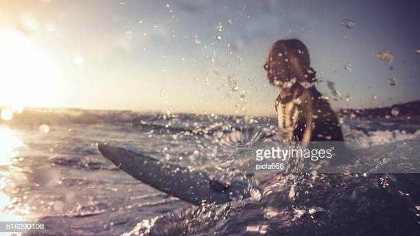 Summer is here: surfer girls in action