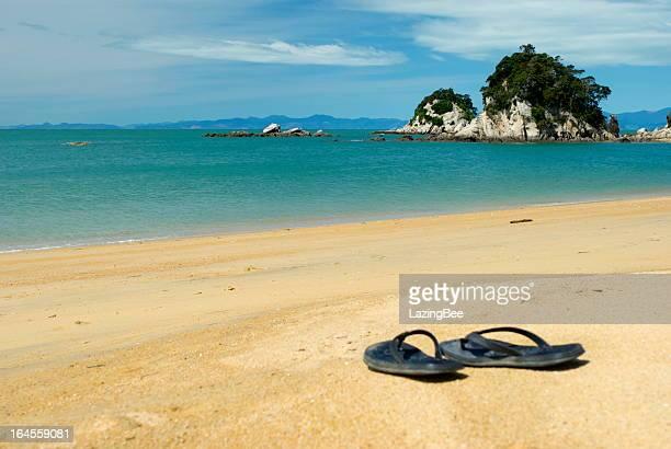 Summer, Jandals on the Beach