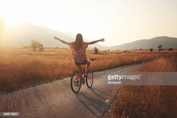 summer joyride - bicycle stock pictures, royalty-free photos & images