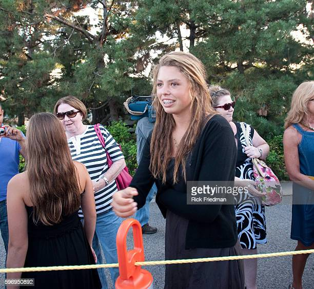 Summer Kennedy age 14 Daughter of Max Kennedy greeting people waiting in the 3 plus hour line to pay respects to Senator Edward M Kennedy at the John...