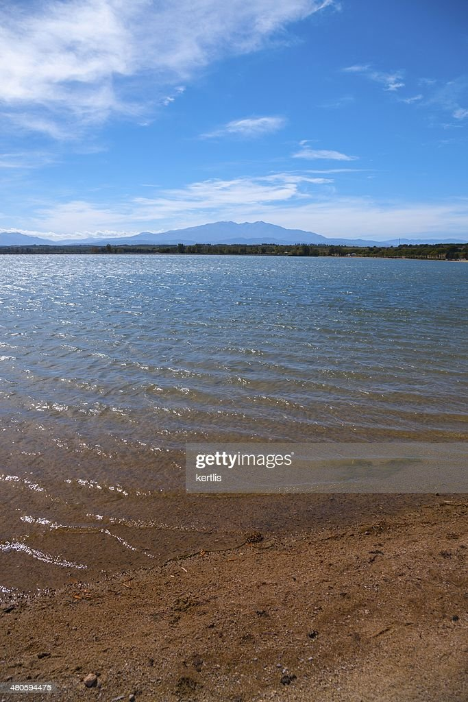 Summer landscape and lake : Stock Photo