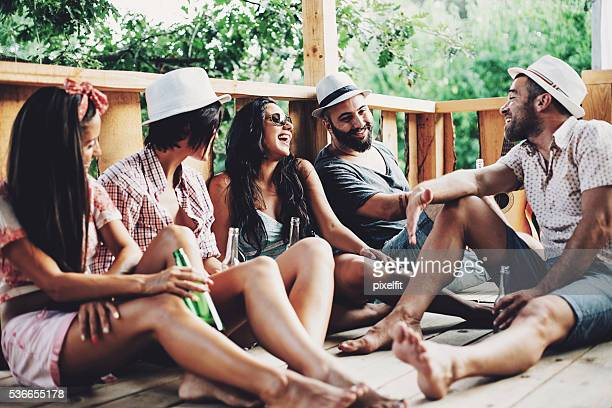 Summer leisure with friends