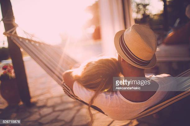 summer love - hammock stock photos and pictures