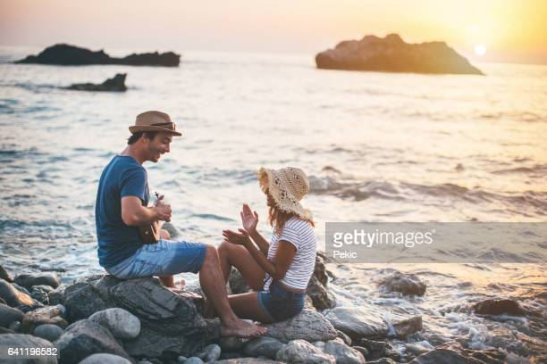 summer love - ukulele stock pictures, royalty-free photos & images