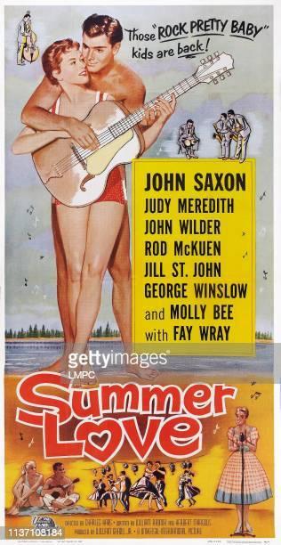 Summer Love poster US poster art from left Judi Meredith John Saxon 1958