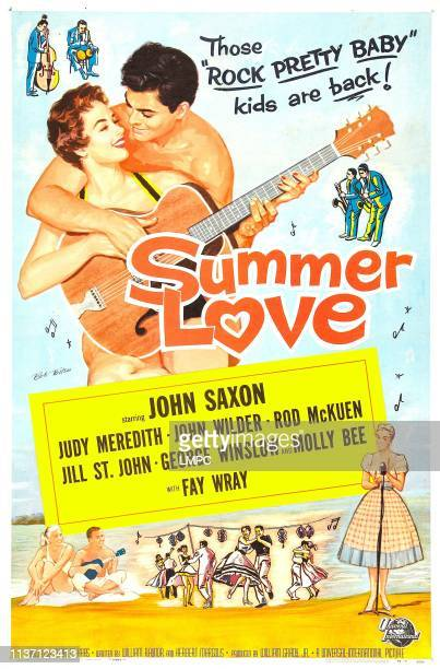 Summer Love poster US poster art from left Judy Meredith John Saxon 1958