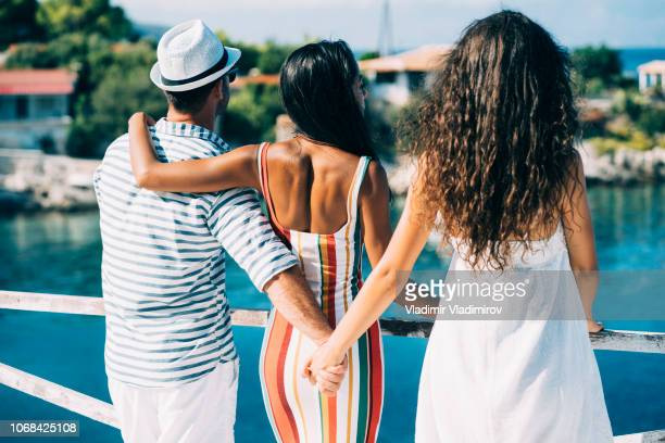 summer love triangle - dishonesty stock pictures, royalty-free photos & images