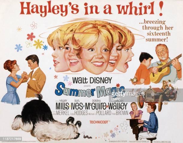 Deborah Walley Peter Brown center Hayley Mills top right Burl Ives 1963