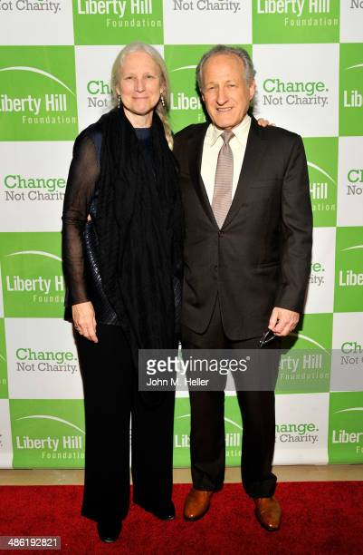 Summer Mann and producer Michael Mann attend the Liberty Hill's Upton Sinclair Awards dinner at The Beverly Hilton Hotel on April 22 2014 in Beverly...