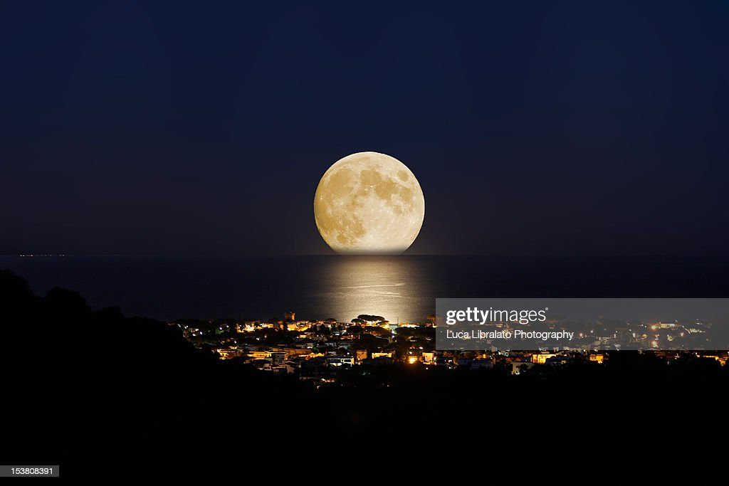 Summer moon : Stock Photo