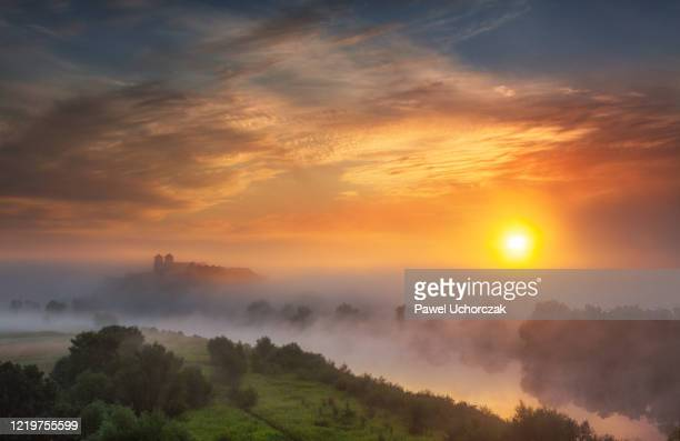 summer morning at tyniec abbey near krakow, poland. - poland stock pictures, royalty-free photos & images