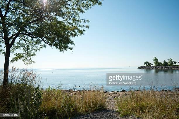 summer morning on lake ontario - lake ontario stock pictures, royalty-free photos & images