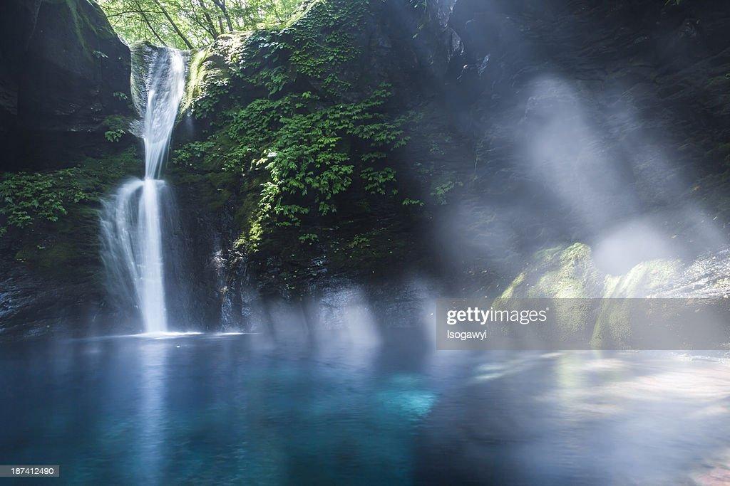 Summer of Oshiraji falls : ストックフォト