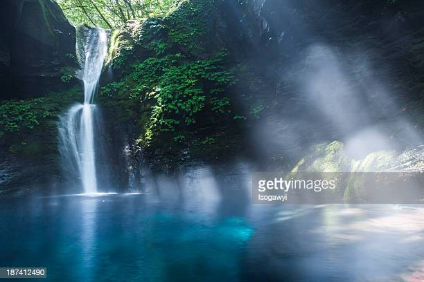 summer of oshiraji falls - isogawyi stock pictures, royalty-free photos & images