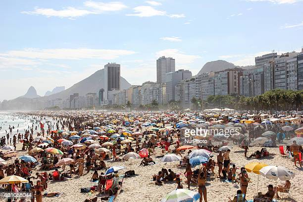 Summer officially begins in Brazil only on 21 December but the beaches of Rio de Janeiro already experiencing summer days Thousands of locals and...
