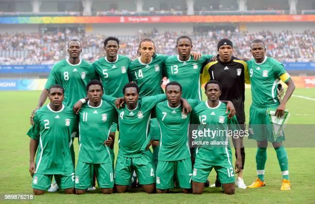 Summer Olympics 2008 Beijing football/soccer men semilfinal August 19th 2008 Bottom Chibuzor OKONKWO Solomon OKORONKWO Onyekachi APAM Chinedu OGBUKE...