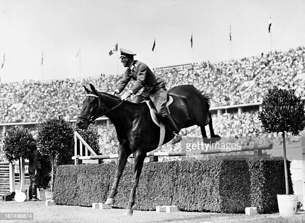 Ludwig Stubbendorf wins with his horse 'Nurmi' the show jumping event August 16th 1936 Germany Photograph Olympische Sommerspiele Berlin 1936 Im...