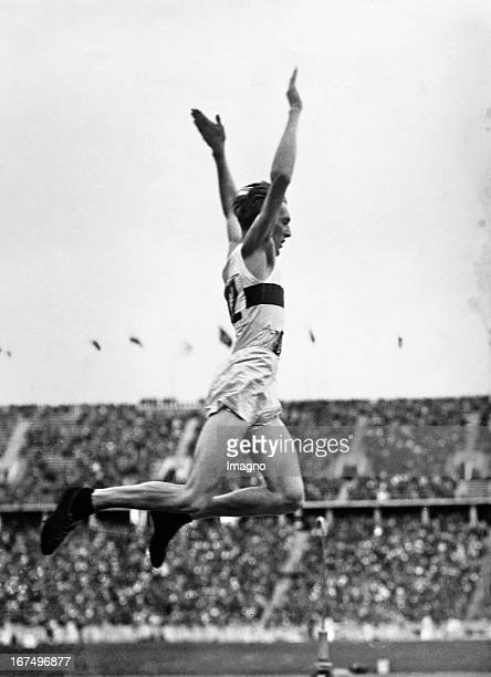 The German athlete Carl Ludwig Luz Long notable for winning Silver in the longjump event qualifying for the finale August 4th 1936 Germany Photograph...