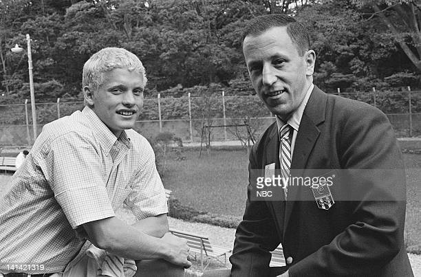 American swimmer Don Schullander during an interview with NBC Sports' Bill Bradley in Tokyo Japan Photo by NBCU Photo Bank