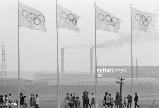 Summer Olympics -- Pictured: Japanese spectators outside the Olympic Stadium in Tokyo, Japan -- Photo by: NBCU Photo Bank