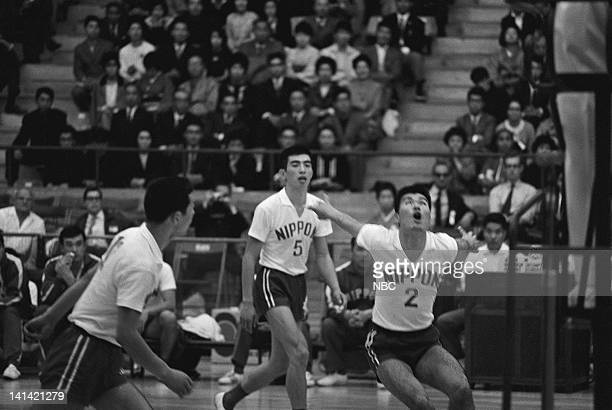 Unidentified Nippon basketball players in action in Tokyo Japan Photo by NBCU Photo Bank