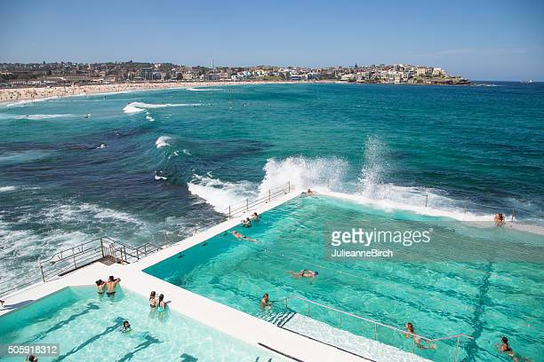summer on bondi beach, australia - sydney stock pictures, royalty-free photos & images