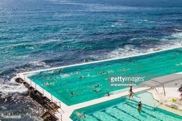 summer on sydney, australia - bondi beach stock pictures, royalty-free photos & images
